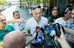 Jure Zdovc, head coach during meeting of Slovenian National Nasketball Team at the beginning of Training camp for Eurobasket 2015, on July 18, 2015 in Ljubljana, Slovenia. Photo by Vid Ponikvar / Sportida