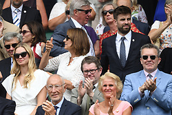 July 4, 2018 - London, London, United Kingdom - Wimbledon Tennis Championships-Day Three. Guest seated in the Royal Box to watch the action on Centre court on Day three of the Wimbledon Tennis Championships. (Credit Image: © Andrew Parsons/i-Images via ZUMA Press)