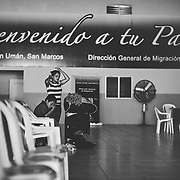 Of the approximately 120,000 who travel to the United States every year, about half are arrested and sent home. The first thing they meet when coming back to Guatemala is the migration police in San Marco.