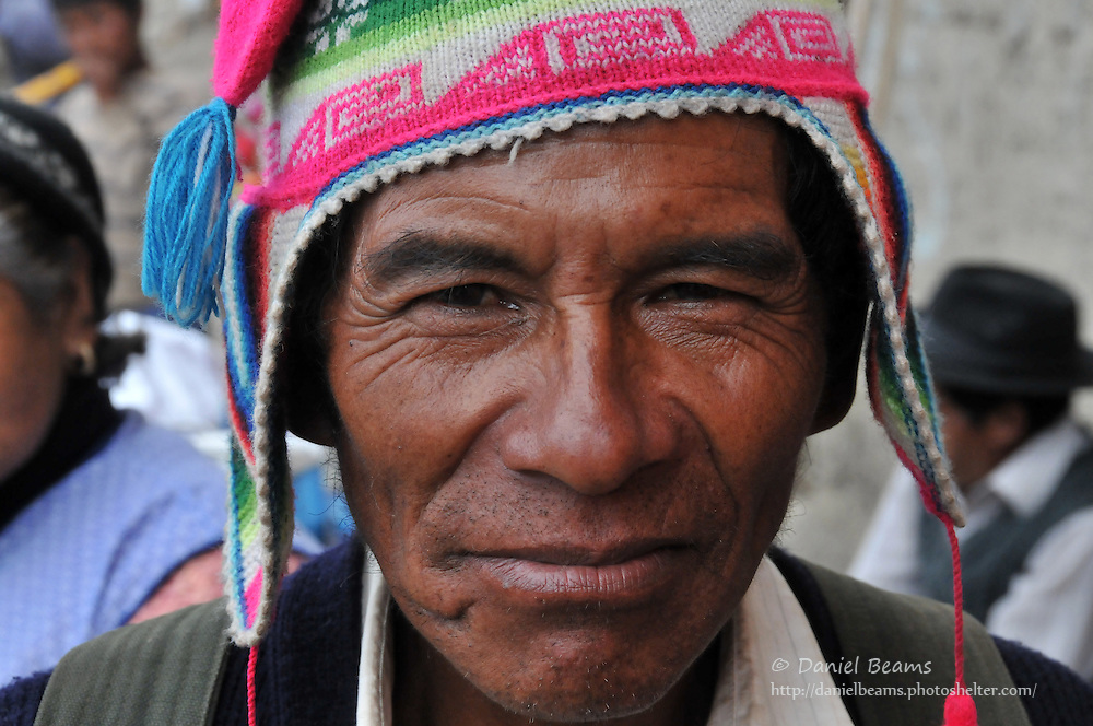 Campesino man in Quiabaya, near Sorata, Bolivia