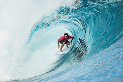 Aug 12, 2017 - teahupo'o, Tahiti, French Polynesia - Connor O'Leary (AUS) placed 1st in Heat 2 of Round Three at Billabong Pro Tahiti 2017 (Credit Image: © WSL/POULLENOT/World Surf League via ZUMA Wire)