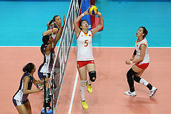 CHINA SHEN JINGSI<br /> USA - CHINA <br /> FINAL VOLLEYBALL WOMEN'S WORLD CHAMPIONSHIP 2014<br /> MILAN (ITA) 12-10-2014<br /> PHOTO BY FILIPPO RUBIN