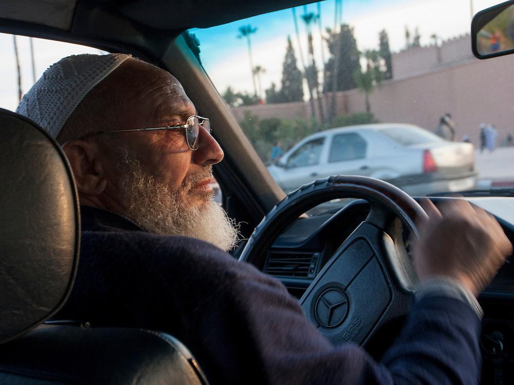 Taxi driver in Marrakech, Morocco.