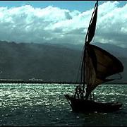 A fishing boat in Luly, Haiti.