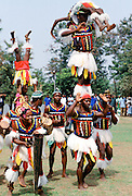 Nigerian locals at tribal gathering cultural event at Enugu in Nigeria, West Africa