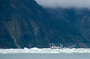 The National Geographic Sea Bird expedition ship explores Endicott Arm fiord, Alaska.