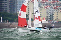 21. August 2008 Olympic Games Beijing / Qingdao Sailing Tordano Class Olympic Medal Race photographed by Jürg Kaufmann