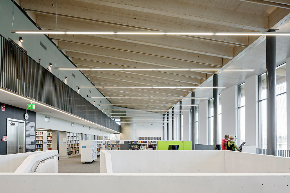Savonlinna municipal library Joeli in Savonlinna, Finland designed by Heikkinen-Komonen Architects