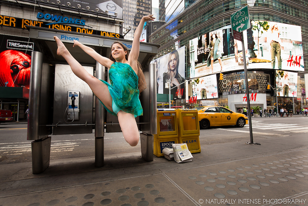 Ballerina Anna Polyachenko  Times Square New York City. Dance As Art- The New York Photography Project.