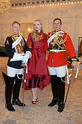 KATIA ELIZAROVA and soldiers at Fashion For The Brave at The Dorchester, Park Lane, London on 8th November 2013.