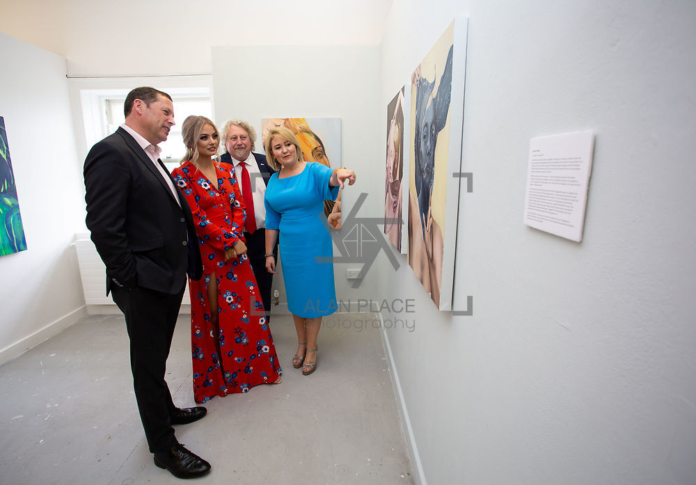 03.06.2018.        <br /> An In-FLUX of visitors attended LSAD, Limerick School of Art and Design for one of Ireland&rsquo;s largest and most vibrant Graduate Shows.<br /> <br /> Pictured at the event were, Barry Cowen TD, his daughter, Gemma Cowen, a painting graduate, Mike Fitzpatrick Dean, Limerick School of Art &amp; Design and Director Cultural Engagement and Chief Executive of the Design &amp; Crafts Council of Ireland, Karen Hennessy who officially opened the Flux Exhibition.<br /> <br /> More than 200 Fine Art and Design students&rsquo; work went on display from June 2 to June 10, 2018 at the LSAD Graduate Show - FLUX.<br /> LSAD has been central to Art, Craft and Design in the Limerick and Midwest region since 1852.<br />  <br /> The concept, branding and overall design of the 2018 LSAD Graduate Show - FLUX &ndash; is student led, and begins this Saturday June 2 and runs until June 10, 2018.<br />  <br /> FLUX encapsulates the movement and change from student to graduate. &ldquo;The &ldquo;X&rdquo; in &ldquo;FLUX&rdquo; represents the students and how they have made their mark in their time at college,&rdquo; explains designers Cathy Hogan and Will Harte as they outline the thinking behind the concept.<br />  <br /> FLUX describes the dynamic movement in the Limerick city region as it overcomes significant issues to become a fulcrum of rejuvenation, vibrant culture, strong industry growth and a centre of design.<br />  <br /> LSAD is also in a state of FLUX as it develops its enterprise potential and engagement with stakeholders across industry, public bodies, third level institutions and other partners overseeing a shift towards design, creativity and connectivity that goes far beyond the walls of its main campus on Clare Street. Picture: Alan Place