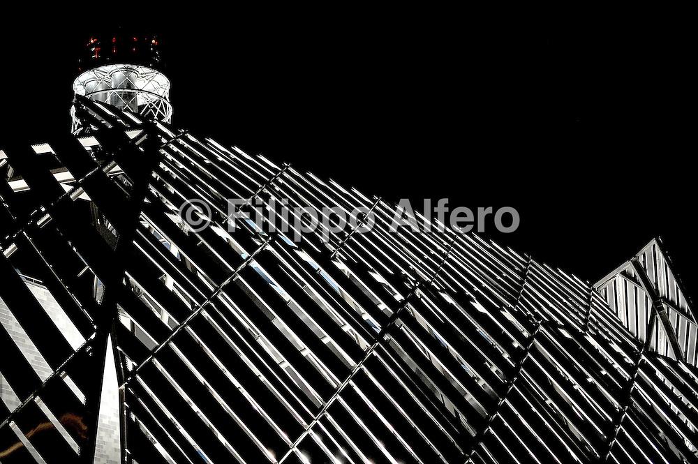 &copy; Filippo Alfero<br /> Centrale termica teleriscaldamento Politecnico Corso Ferrucci Torino<br /> Torino, 03/06/2009<br /> Nella foto: vista parziale notturna della centrale