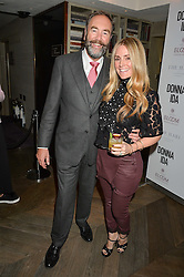 DONNA IDA and her husband BOBBY THORNTON at a party hosted by Donna Ida to celebrate 'A Decade in Denim' held at The hari Hotel, 20 Chesham Place, London on 11th October 2016.