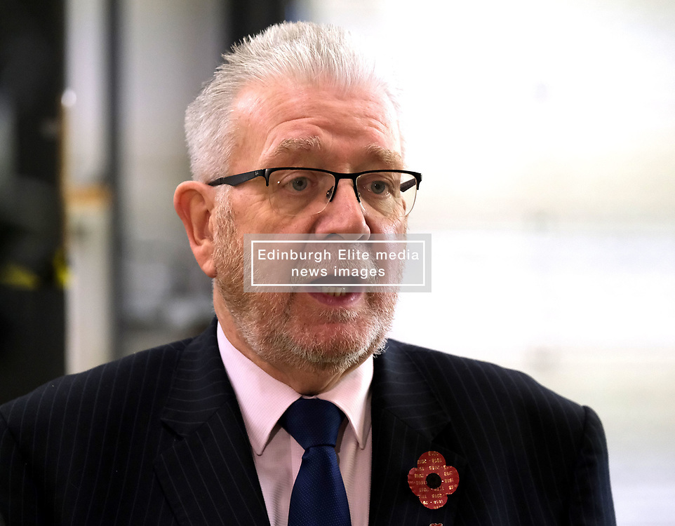 Helping Businesses Prepare For Brexit, Livingston, Thursday 1st November 2018<br /> <br /> Constitutional Relations Secretary Michael Russell launched a new dedicated online domain and a specially designed Brexit self-assessment tool in Livingston.<br /> <br /> The self-assessment tool will help businesses identify how Brexit might affect them, providing bespoke recommendations for action to help their planning activities. It will also be home to the Brexit toolkit, 15-point checklist, news, articles, access to experts and event listings.<br /> <br /> The launch was made during a visit to CSI Group (Complete Storage Interiors) in Livingston where Mr Russell talked to the company about the challenges Brexit poses for business, particularly SMEs.<br /> <br /> Pictured: Michael Russell<br /> <br /> Alex Todd | Edinburgh Elite media