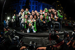 Athletes during reception of Slovenian National Handball Men team after they placed third at IHF World Handball Championship France 2017, on January 30, 2017 in Mestni trg, Ljubljana centre, Slovenia. Photo by Vid Ponikvar / Sportida