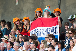 Supporters, Diederik Van Silfhout, (NED) - Freestyle Grand Prix Dressage - Alltech FEI World Equestrian Games™ 2014 - Normandy, France.<br /> © Hippo Foto Team - Jon Stroud<br /> 25/06/14