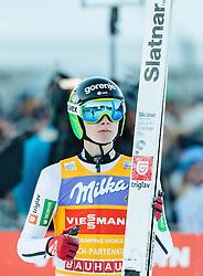 01.01.2017, Olympiaschanze, Garmisch Partenkirchen, GER, FIS Weltcup Ski Sprung, Vierschanzentournee, Garmisch Partenkirchen, Wertungsdurchgang, im Bild Domen Prevc (SLO) // Domen Prevc of Slovenia reacts after his Competition Jump for the Four Hills Tournament of FIS Ski Jumping World Cup at the Olympiaschanze in Garmisch Partenkirchen, Germany on 2017/01/01. EXPA Pictures © 2017, PhotoCredit: EXPA/ JFK