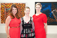 Elizabeth  Sheehan Absolut Marketing Manager,  Tracy Ferguson GAF and Elaine Divilly GAF  on Shifting Ground by Heneghan Peng at the opening of the ABSOLUTE Festival Galway on the Headford Road Galway which is part of the Galway Arts festival. Picture:Andrew Downes