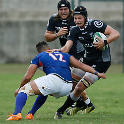 DURBAN, SOUTH AFRICA, 23, April 2016 - Johan du Toit of the Cell C Sharks XV during the  Currie Cup Qualifiers match between The Cell C Sharks XV vs Windhoek Draught Welwitschias,King Zwelithini Stadium, Umlazi, Durban, South Africa. Kevin Sawyer (Steve Haag Sports) images for social media must have consent from Steve Haag