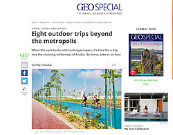 GEO Special magazine; Cycling in Dubai