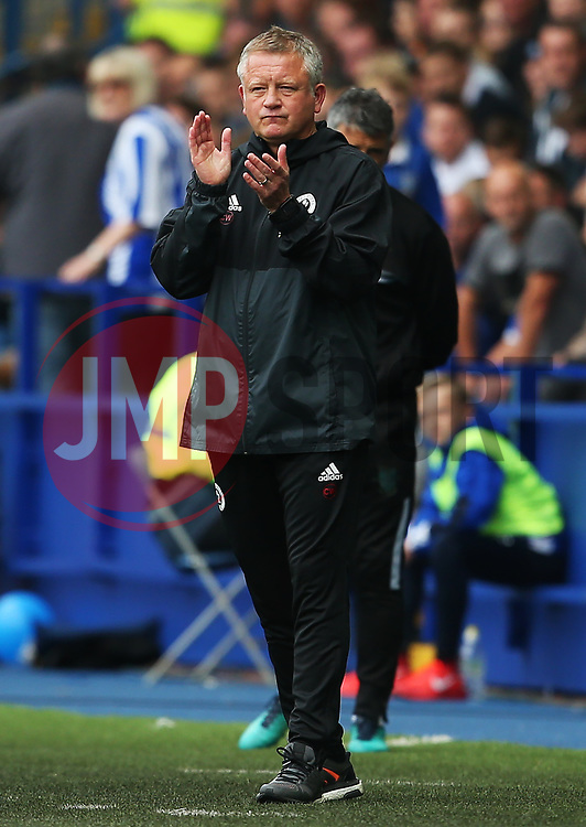 Sheffield United manager Chris Wilder applauds his players - Mandatory by-line:  Matt McNulty/JMP - 24/09/2017 - FOOTBALL - Hillsborough - Sheffield, England - Sheffield Wednesday v Sheffield United - Sky Bet Championship