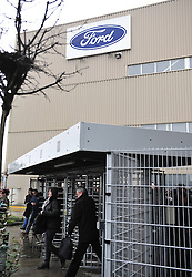 Ford employees walk out of the Ford Genk assembly factory after get off work, in Genk of Belgium, Jan. 9, 2013, the first day to resume the production in 2013. A thin majority of workers voted to re-start to work for 40 more days in 2013 in an agreement between the direction and unions earlier in the week, but some others decided to block all access to the plant in protest. Ford Europe announced on October 24, 2012 to close its Genk plant at the end of 2014, threatening 4,300 jobs as slumping demand across Europe leaves companies with too much capacity, Brussels, Belgium, January 9, 2013. Photo by Imago / i-Images...UK ONLY