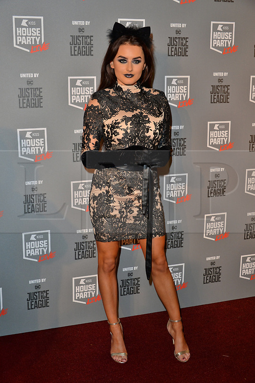 © Licensed to London News Pictures. 26/10/2017. London, UK. Amber Davies of Love Island attends the Kiss House Party Live event at the SSE Wembley Arena. Photo credit: Ray Tang/LNP