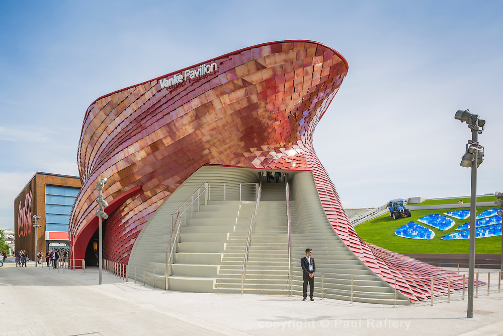 Venke pavilion Expo 20015 Milan. Architect Daniel Liebskind