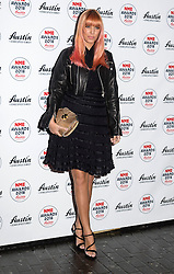© Licensed to London News Pictures. 17/02/2016. AMBER LE BON arrives at the NME Awards 2016 with Austin, Texas.  Previous winners of NME's Godlike Genius Award include Suede, Blondie, The Clash, Paul Weller, The Cure, Manic Street Preachers, New Order & Joy Division, Dave Grohl, Noel Gallagher and Johnny Marr.  London, UK. Photo credit: Ray Tang/LNP