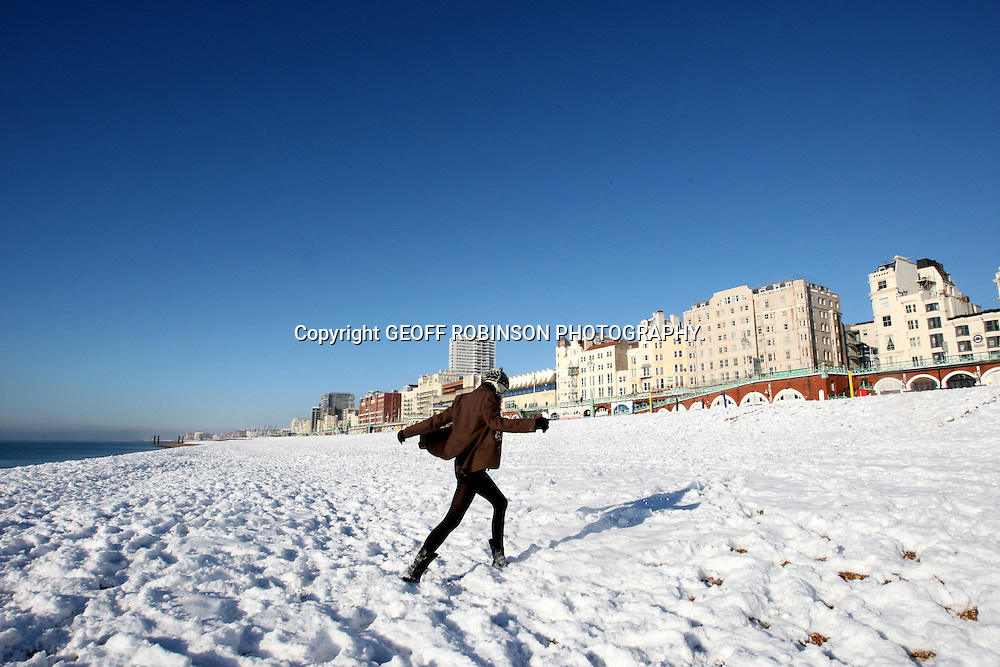 SNOW ON BRIGHTON BEECH