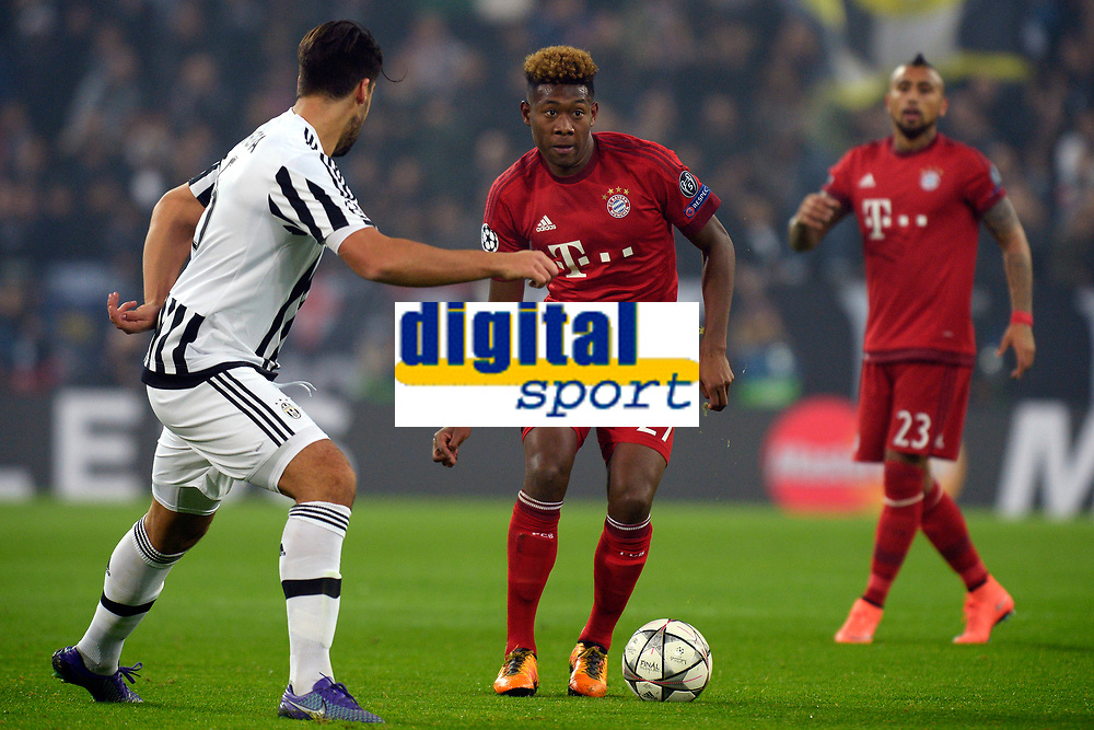 David Alaba Bayern, Sami Khedira Juventus <br /> Torino 23-02-2016 Juventus Stadium, Football Champions League 2015/2016 Round of 16 Juventus - Bayern Munich / Juventus - Bayern Monaco .  Foto Filippo Alfero / Insidefoto