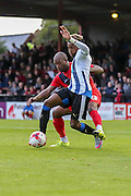 Anthony Straker & Rolando Aarons during the Pre-Season Friendly match between York City and Newcastle United at Bootham Crescent, York, England on 29 July 2015. Photo by Simon Davies.