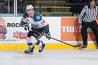 KELOWNA, CANADA - APRIL 5: Rourke Chartier #14 of the Kelowna Rockets skates against the Seattle Thunderbirds on April 5, 2014 during Game 2 of the second round of WHL Playoffs at Prospera Place in Kelowna, British Columbia, Canada.   (Photo by Marissa Baecker/Getty Images)  *** Local Caption *** Rourke Chartier;