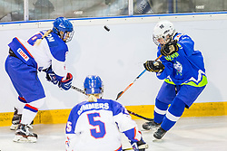Breznik Tamara of Slovenia during hockey match between Slovenia and Great Britain in IIHF World Womens Championship, Division II, Group A, on April 4, 2018 in Ledena dvorana Maribor, Maribor, Slovenia. Photo by Ziga Zupan / Sportida