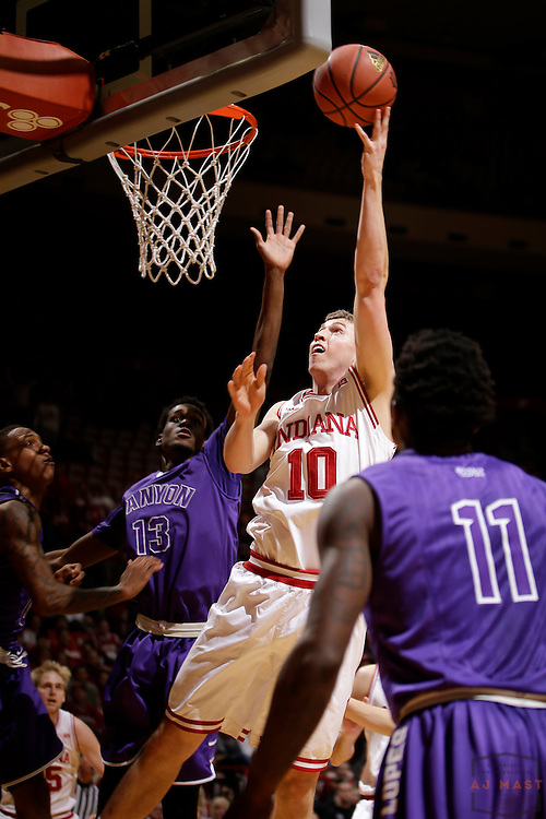 Indiana forward Ryan Burton (10) as Grand Canyon played Indiana in an NCAA college basketball game in Bloomington, Ind., Saturday, Dec. 13, 2014. (AJ Mast/Photo)