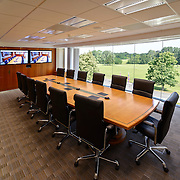Corporate executive boardroom interior
