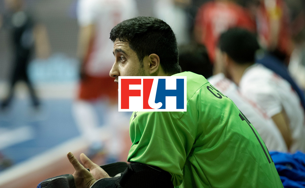 BERLIN - Indoor Hockey World Cup<br /> Men: Iran - Switzerland<br /> foto: CHAZANISHARAHI Alireza.<br /> COPYRIGHT WILLEM VERNES