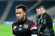 MK Dons striker Nicky Maynard during the The FA Cup Third Round Replay match between Milton Keynes Dons and Northampton Town at stadium:mk, Milton Keynes, England on 19 January 2016. Photo by Dennis Goodwin.
