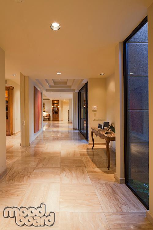 Hallway in luxurious house