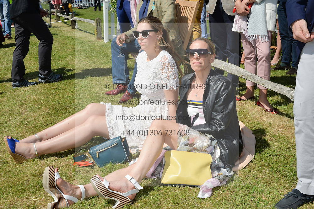 TIPHAINE DE LUSSY and her daughter SERAPHINE CHAPMAN at the St.Regis International Polo Cup at Cowdray Park, Midhurst, West Sussex on 16th May 2015.