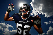 081711-South Jefferson County, COLORADO-football-Columbine High School's DL Josh Croy poses for a portrait Wednesday, August 17, 2011 at CHS..Photo By Matthew Jonas/Evergreen Newspapers/Photo Editor
