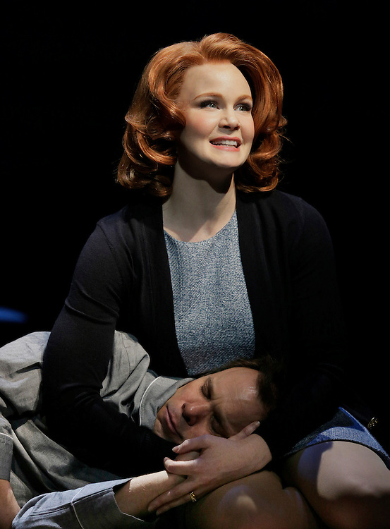 Norbert Leo Butz and Kate Baldwin in.Big Fish .Susan Stroman: Director and Choreographer.Credit Photo: Paul Kolnik.studio@paulkolnik.com.nyc 212-362-7778