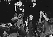 Players raise cup after the All Ireland Football Final Dublin v Armagh at Croke Park, 25th September 1977.