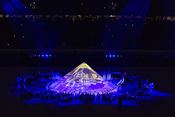 September 20, 2019, Tokyo, Japan: Participants take part in the opening ceremony of the Rugby World Cup 2019 to mark the kick-off of the matches at Tokyo Stadium. The tournament runs from September 20 to November 2. (Credit Image: © Rodrigo Reyes Marin/ZUMA Wire)