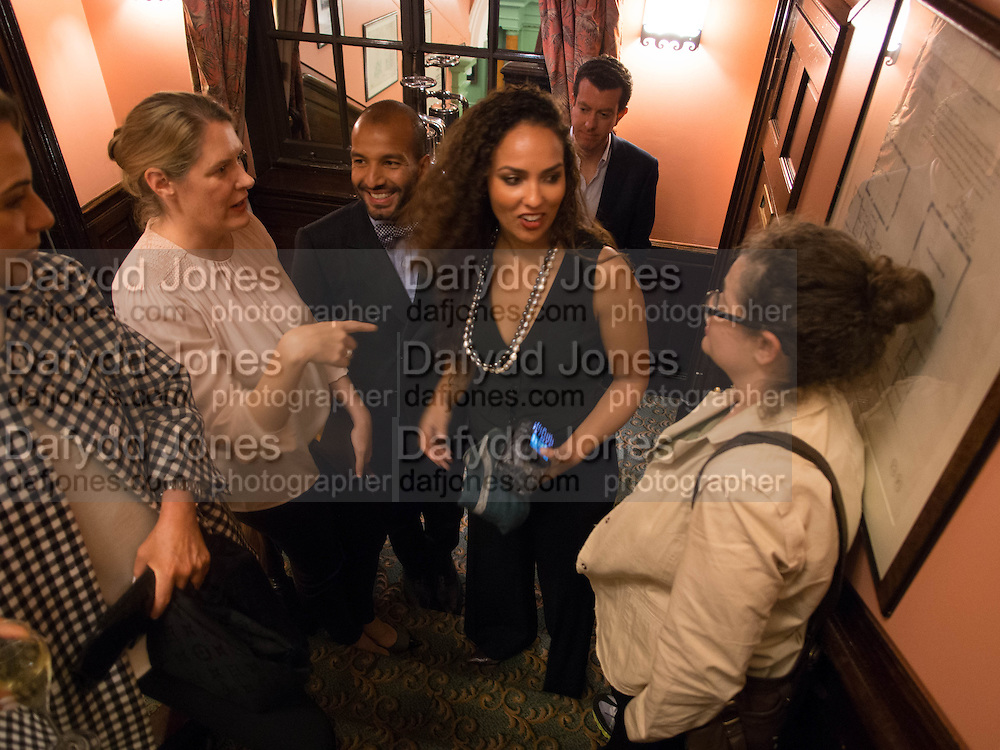 PHILOMENE MAGERS; PRINCESS ALIA AL-SENUSSI; AMANDA SHARP, Opening of Morris Lewis: Cyprien Gaillard. From Wings to Fins, Sprüth Magers London Grafton St. London. Afterwards dinner at Simpson's-in-the-Strand hosted by Monika Spruth and Philomene Magers.