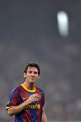 BEIJING, Aug. 8, 2010  Messi Lionel of Barcelona F.C team reacts after losing a scoring opportunity during a friendly match against Beijing Guo'an in the national stadium, also known as ''Birds' Nest'' in Beijing, capital of China, on Aug. 8, 2010. (Credit Image: © Xinhua via ZUMA Wire)