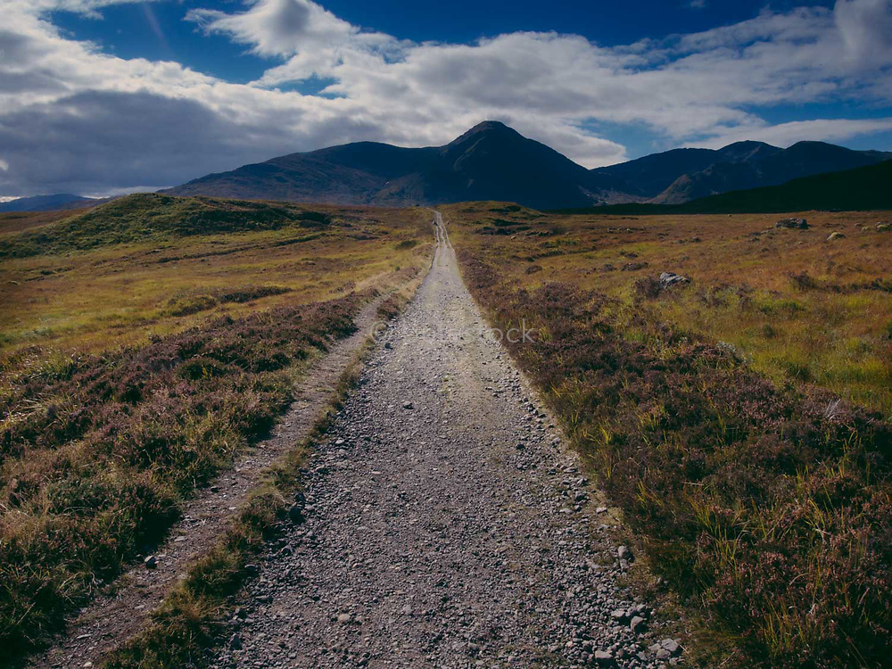 Road leading to Rannoch Moor, Black Mountains Scotland.