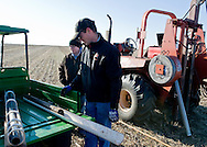 No till drill and ammonia oxide application