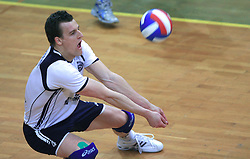 Jernej Potocnik of Salonit at last final volleyball match of 1.DOL Radenska Classic between OK ACH Volley and Salonit Anhovo, on April 21, 2009, in Arena SGS Radovljica, Slovenia. ACH Volley won the match 3:0 and became Slovenian Champion. (Photo by Vid Ponikvar / Sportida)