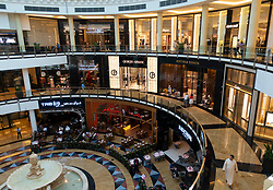 Interior of Mall of the Emirates in Dubai, UAE
